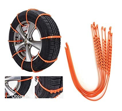 OSIAS New 10 PCS Snow Tire Chain for Car Truck SUV Anti Skid Emergency Winter